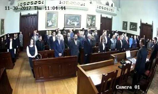 Cесія Мукачівської міської ради 30.11.2017 Відео
