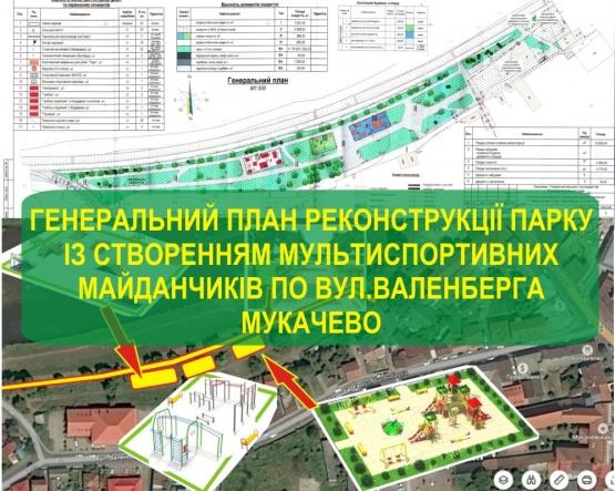 Ген план реконструкції парку по вул. Валенберга в Мукачево. ДОКУМЕНТ
