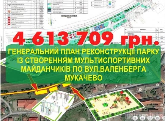 В Мукачеві оголосили тендер на реконструкцію одіозного парку майже на 5-ть млн. грн.
