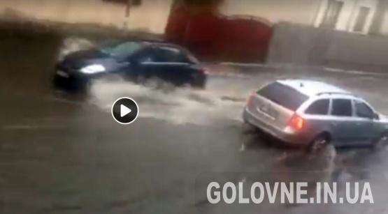 Мукачівці діляться Фото та Відео під час зливи