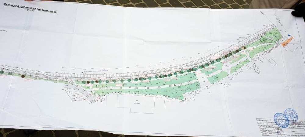 План вирубки дерев Набережної Мукачева